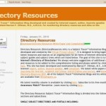 Updated> Directory Resources On the Internet